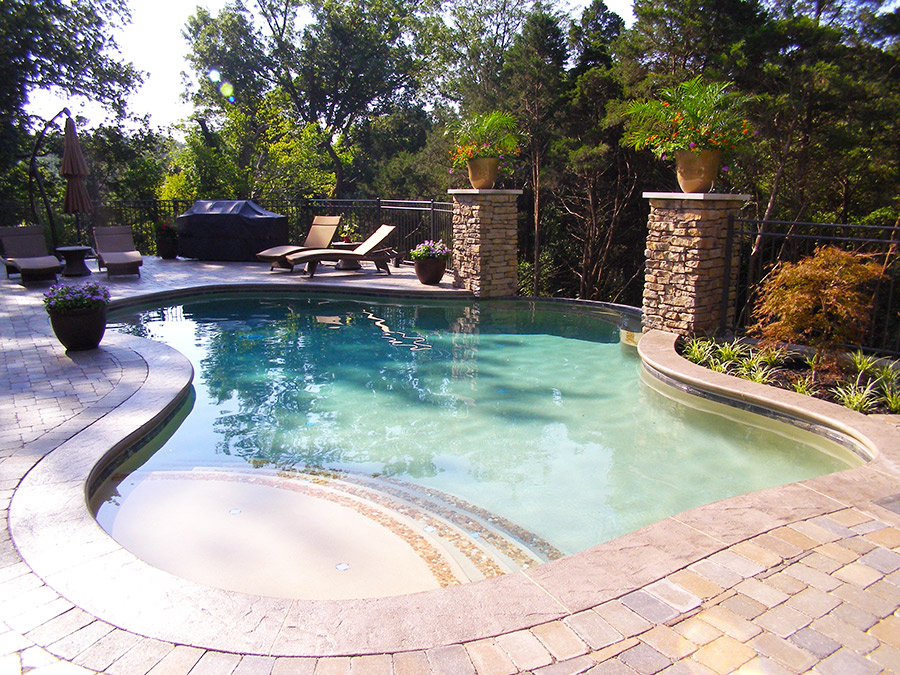 Gunite Pool Designs gunite pool design Surface Options Including Hydrazza Marbelite Or Pebble Interior Finishes Other Options Including But Not Limited To Are Natural Rock Or Faux Rock