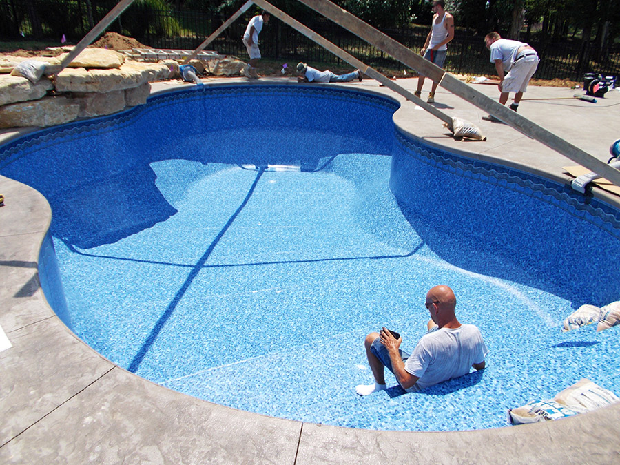 of the sentry in ground pools can handle the dual pressure of water within the pool and the earth outside plus stand up to the extremes of weather and